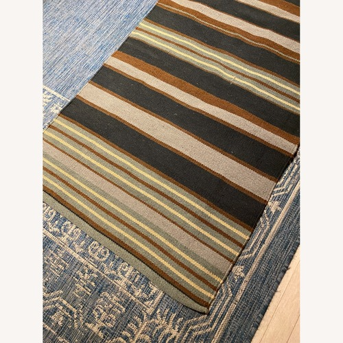 Used Blue, Brown and Grey Runner 9' x 2.5' for sale on AptDeco