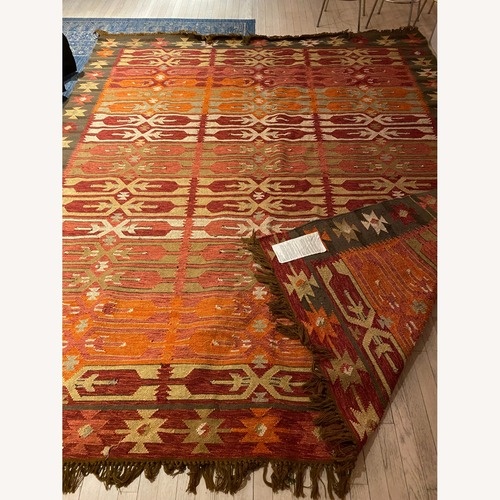Used Pottery Barn Surrey Kilim 8x10 in/outdoor Rug for sale on AptDeco