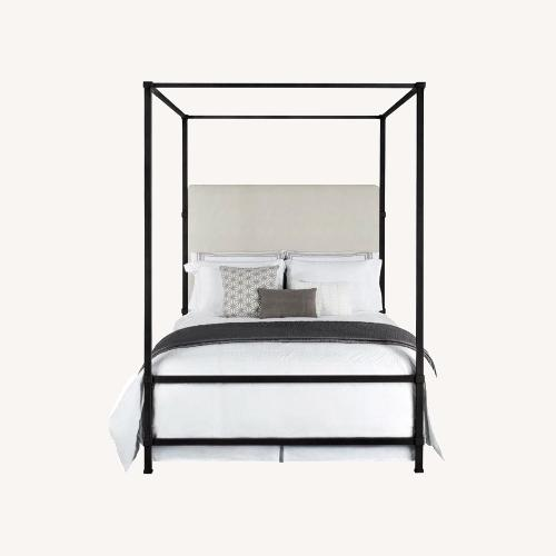 Used Kathy Kuo Home Queen Iron Canopy Bed for sale on AptDeco
