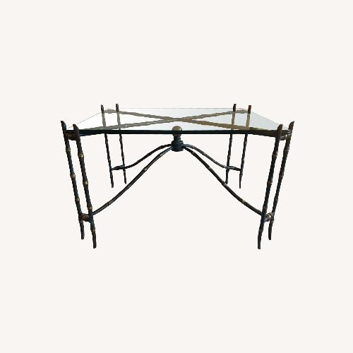 Used Bronze Bamboo Side Table by La Barge for sale on AptDeco
