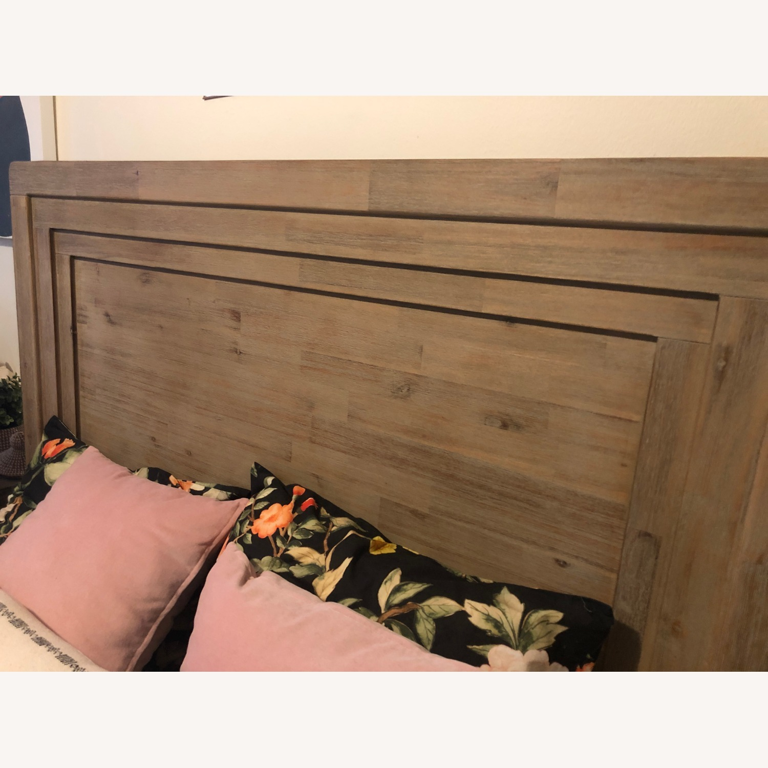 Casana Natural Wood Queen Bed frame - image-5