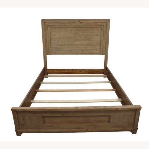 Used Casana Natural Wood Queen Bed frame for sale on AptDeco