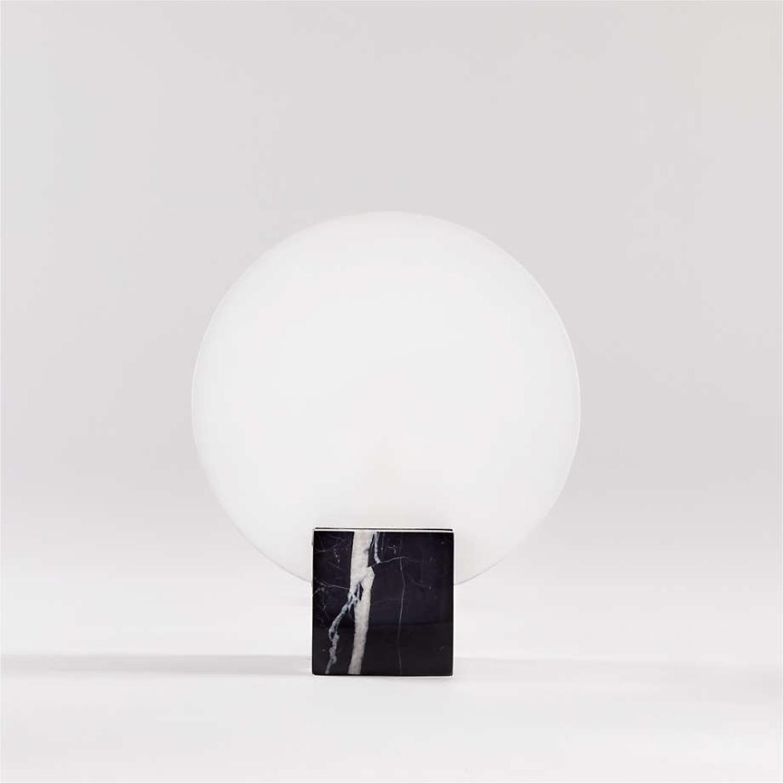 Crate & Barrel Black Marble Desk Lamps - image-3