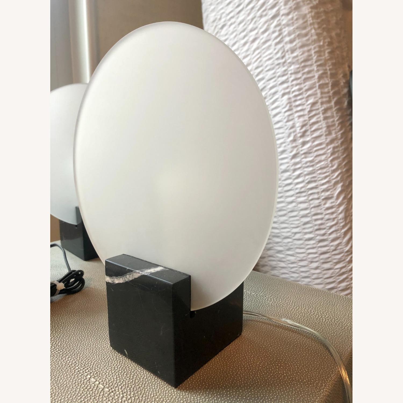 Crate & Barrel Black Marble Desk Lamps - image-2