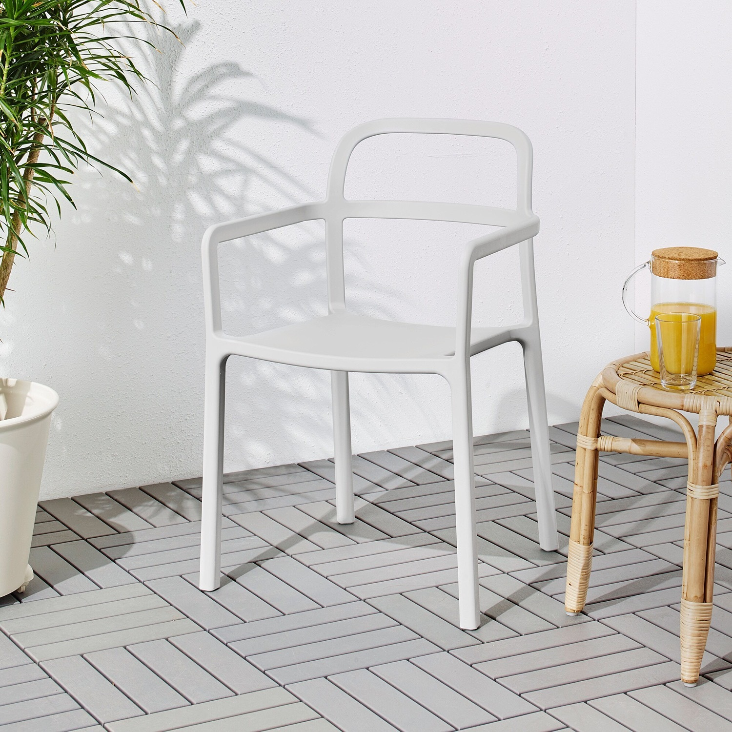 IKEA YPPERLIG Chair with Armrests, in/outdoor - image-8