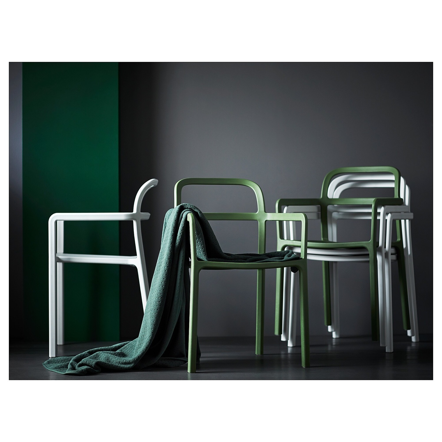 IKEA YPPERLIG Chair with Armrests, in/outdoor - image-9