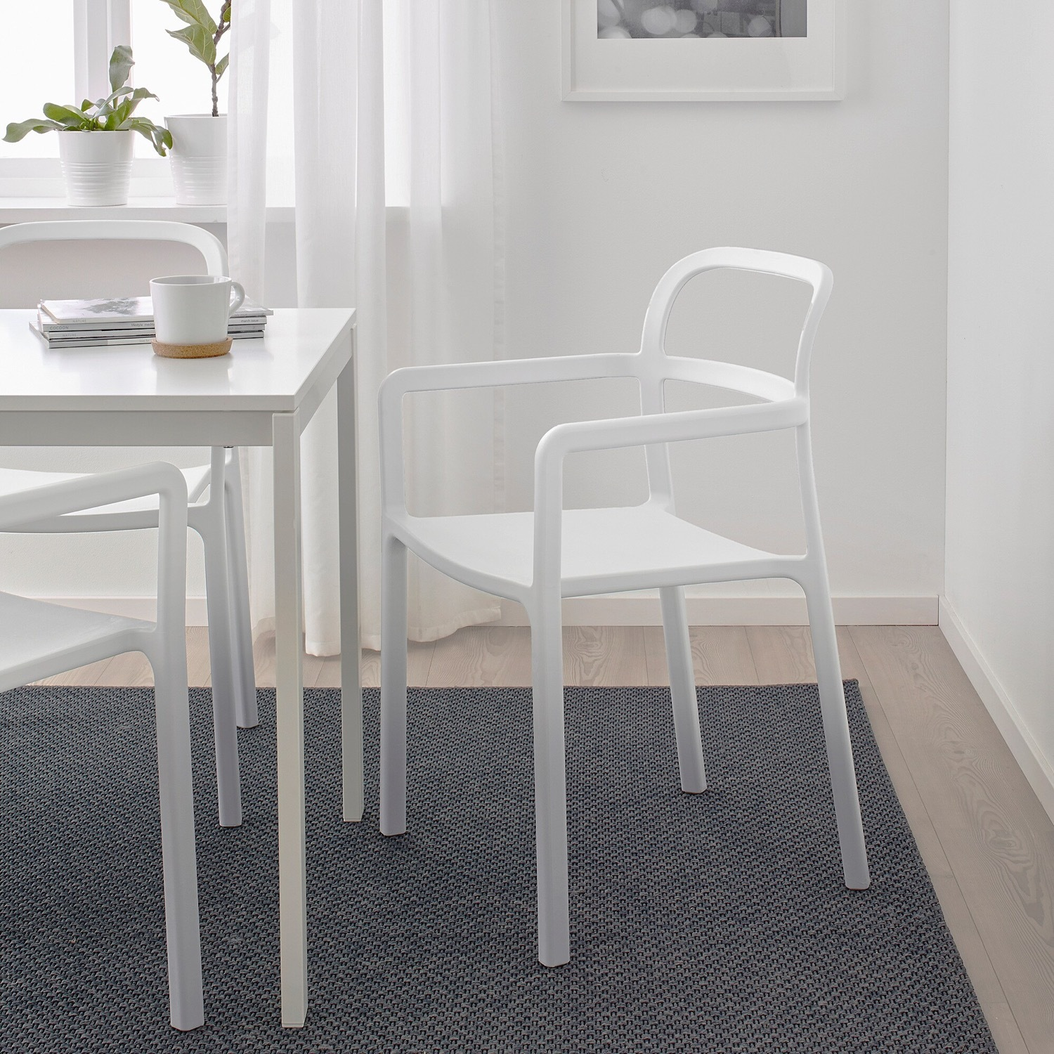 IKEA YPPERLIG Chair with Armrests, in/outdoor - image-6