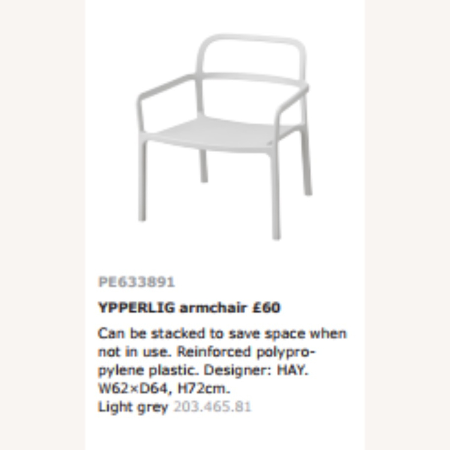 IKEA YPPERLIG Chair with Armrests, in/outdoor - image-11