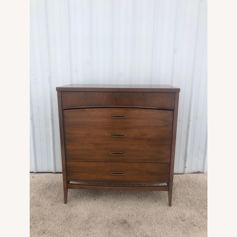 Mid Century Modern Highboy Dresser in Walnut - image-17