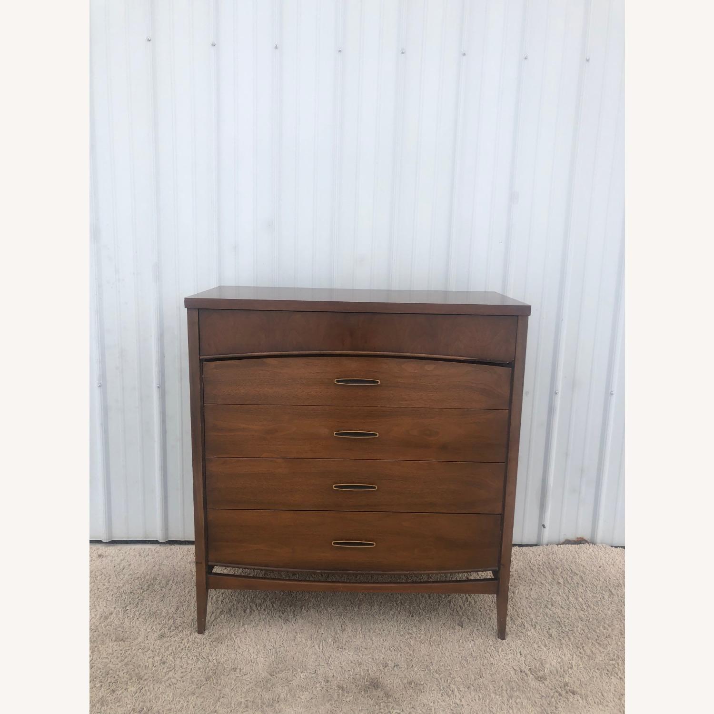Mid Century Modern Highboy Dresser in Walnut - image-3