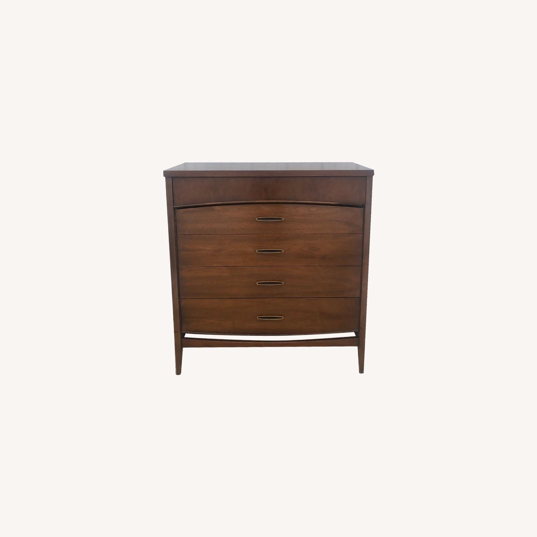 Mid Century Modern Highboy Dresser in Walnut - image-0