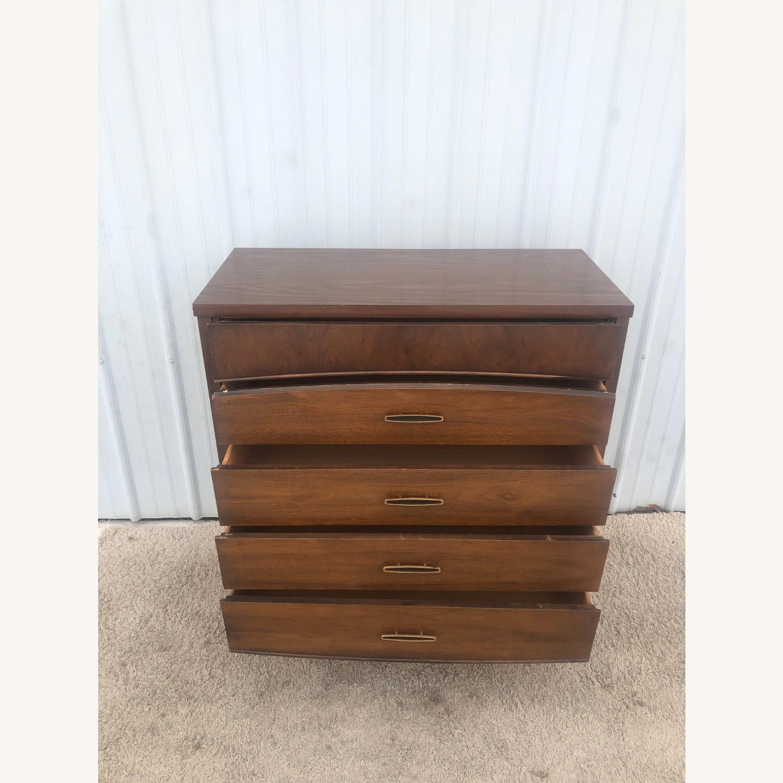 Mid Century Modern Highboy Dresser in Walnut - image-9