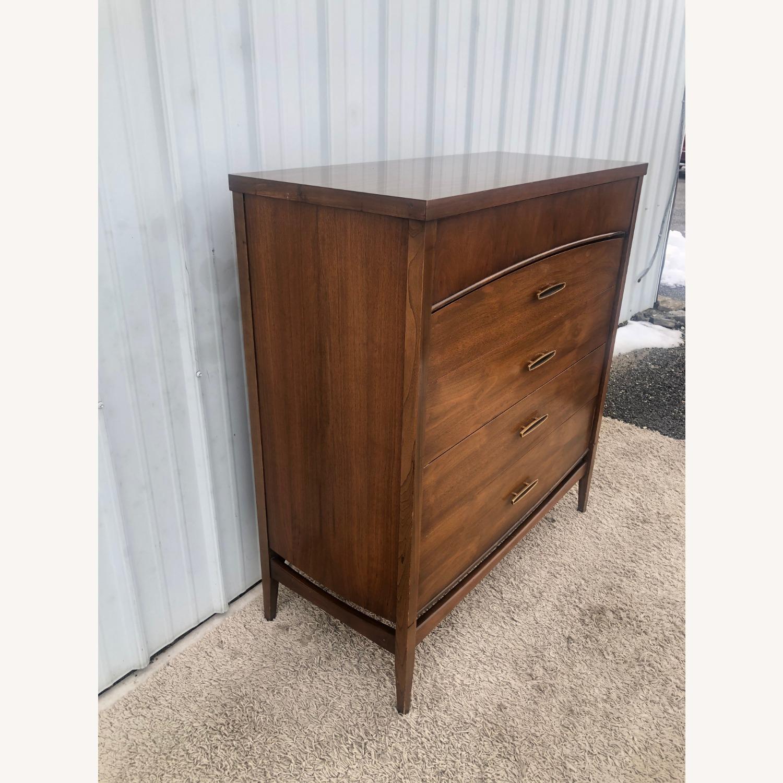 Mid Century Modern Highboy Dresser in Walnut - image-7