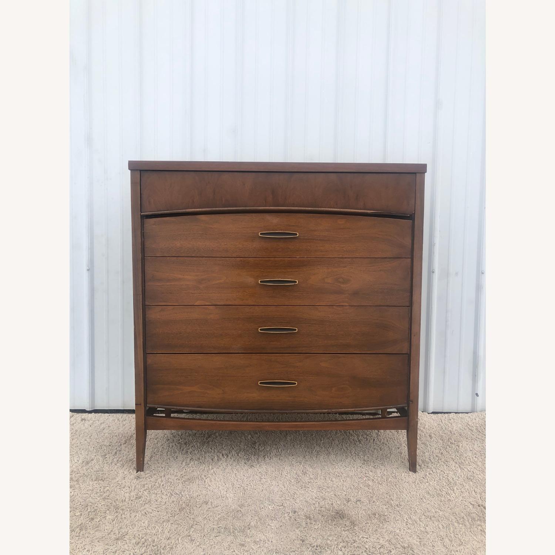 Mid Century Modern Highboy Dresser in Walnut - image-1