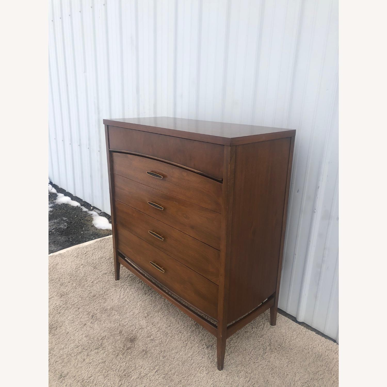Mid Century Modern Highboy Dresser in Walnut - image-4