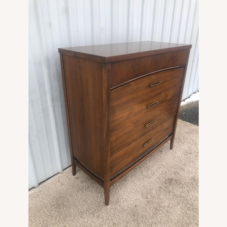 Mid Century Modern Highboy Dresser in Walnut - image-18