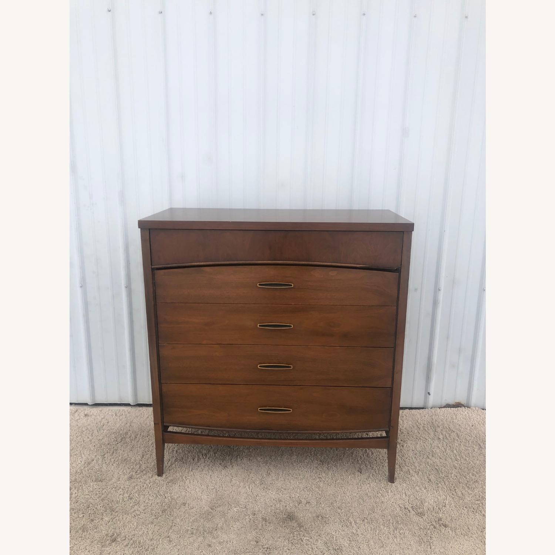 Mid Century Modern Highboy Dresser in Walnut - image-8