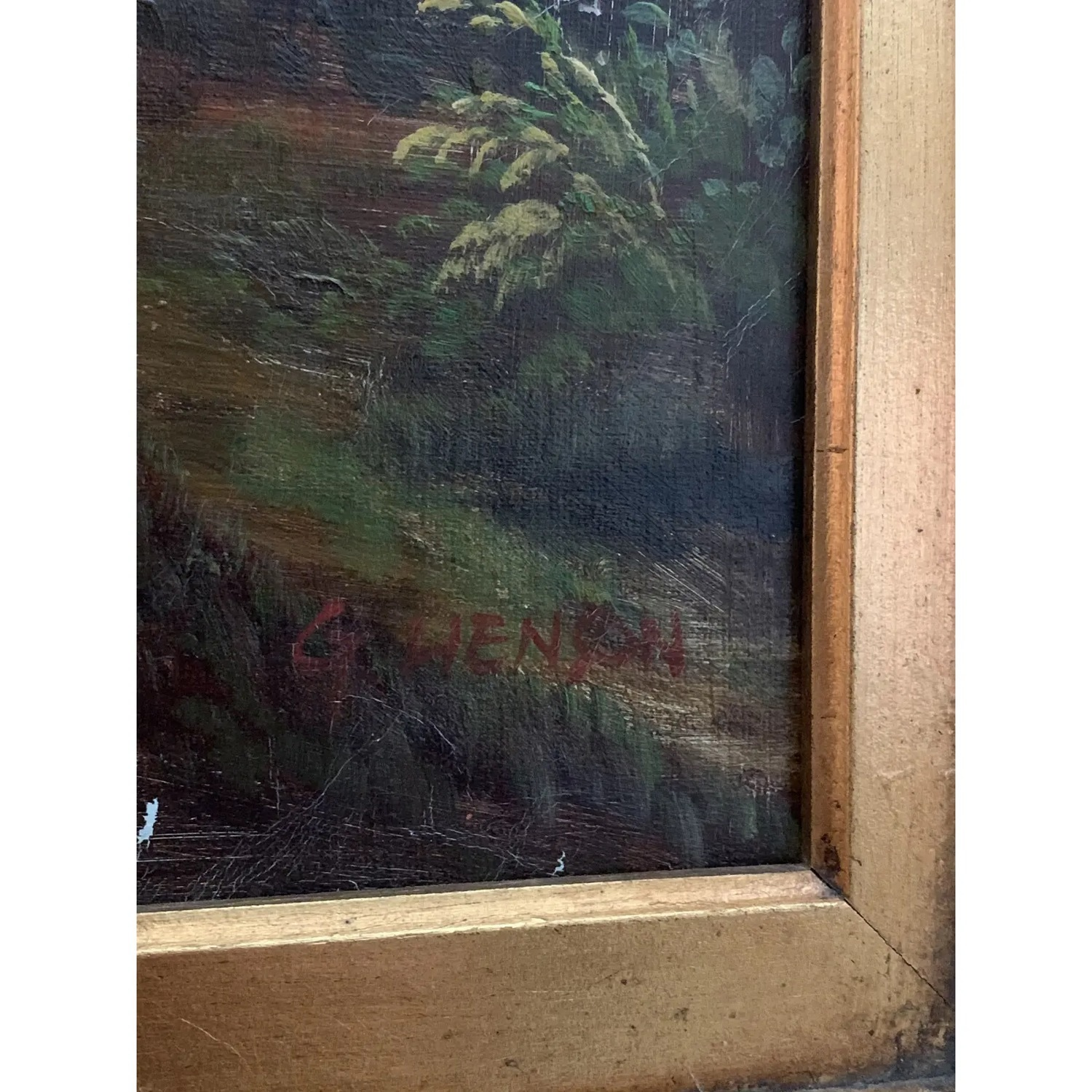 Framed Early 20th Century Oil Painting - G.Henson - image-4