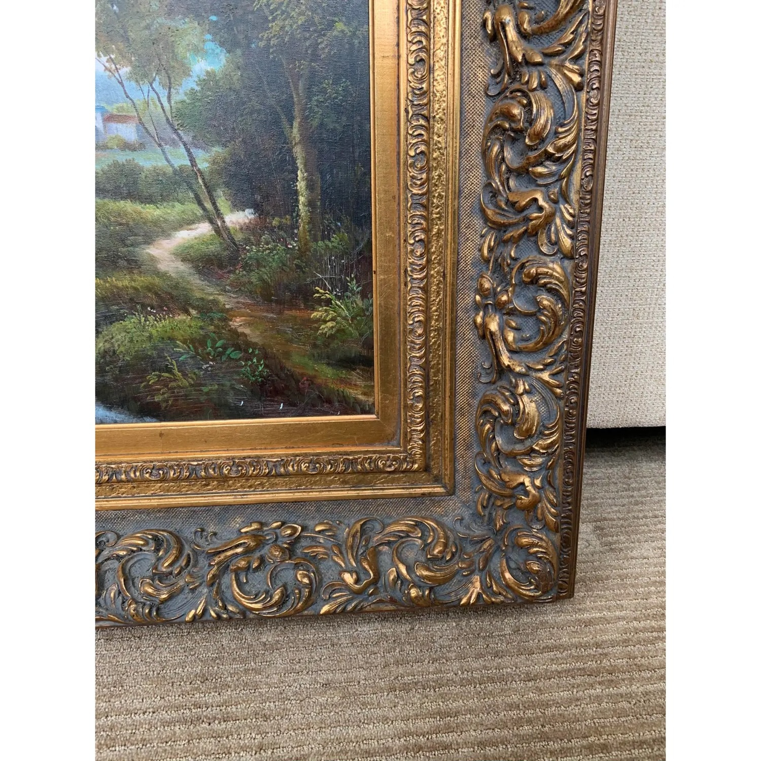 Framed Early 20th Century Oil Painting - G.Henson - image-3