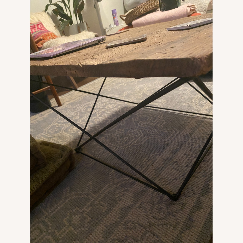 West Elm Industrial Real Wood and Metal Coffee Table - image-3