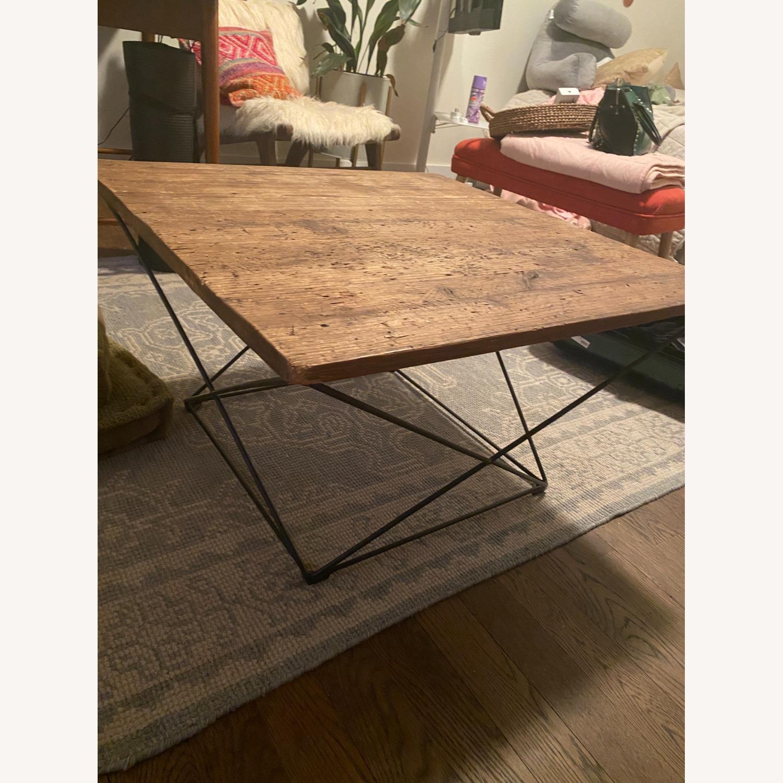 West Elm Industrial Real Wood and Metal Coffee Table - image-1