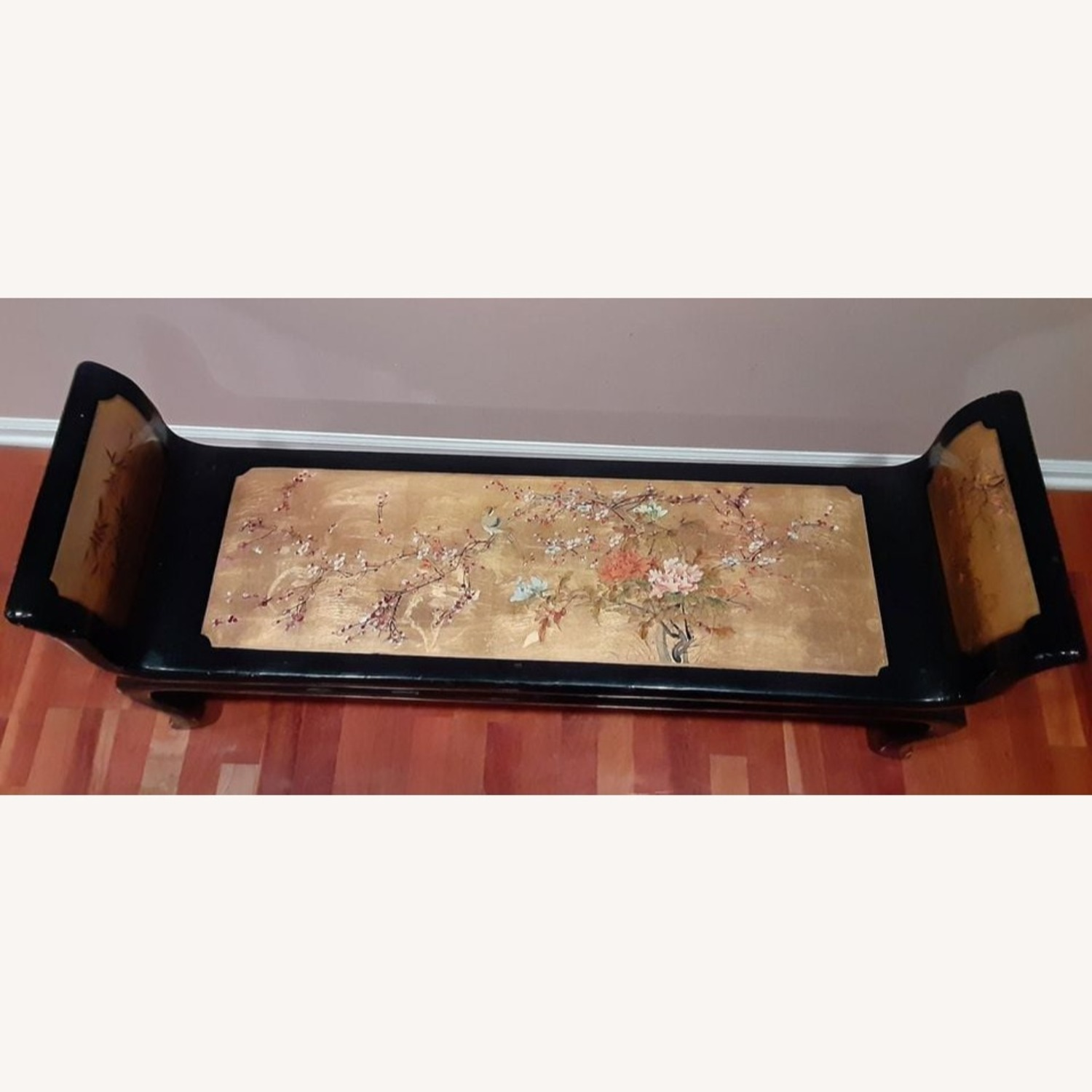 Ming Style Black Lacquer Chinese Bench (Po Chu) - image-3