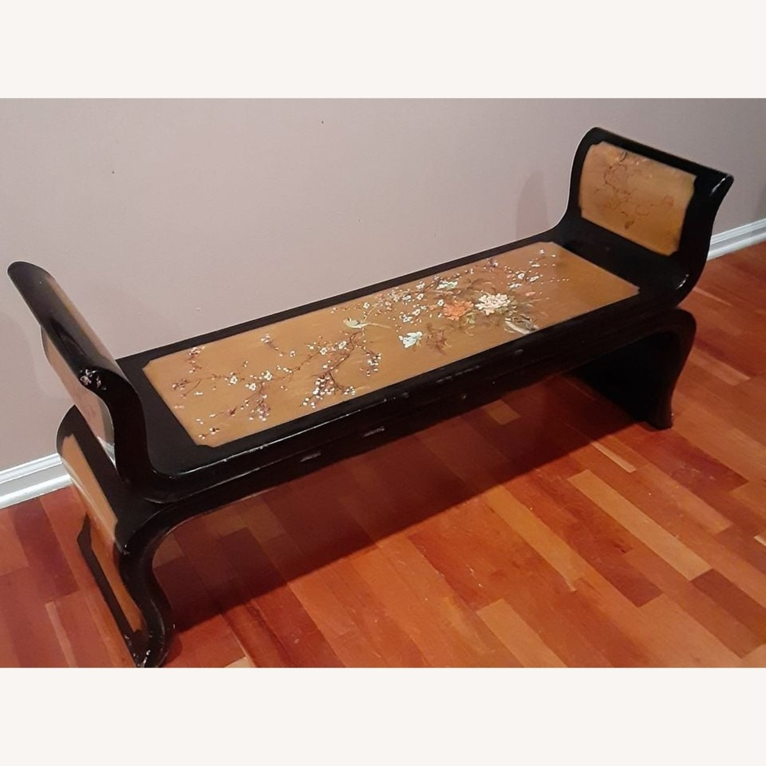 Ming Style Black Lacquer Chinese Bench (Po Chu) - image-1
