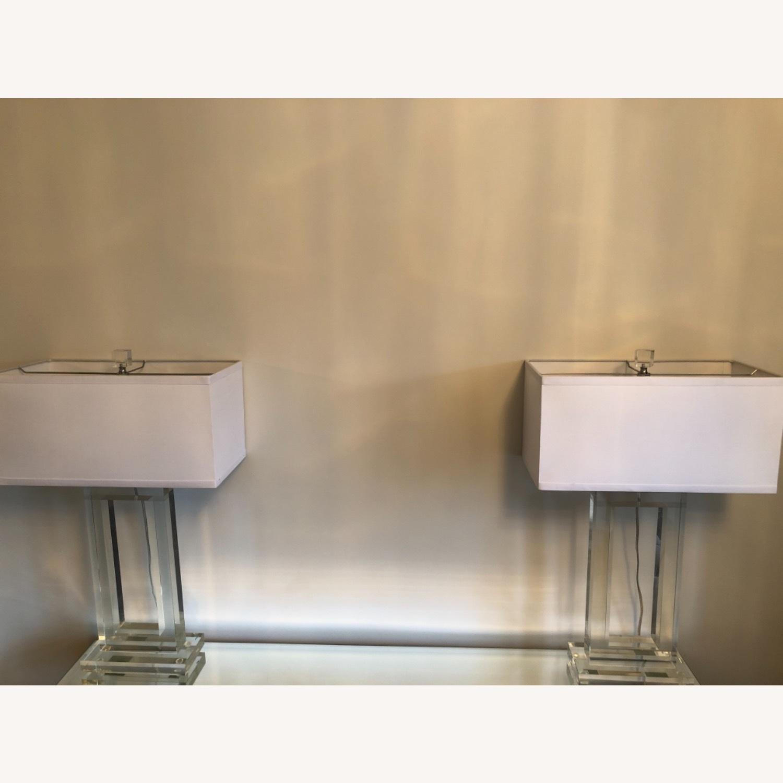 Lamps Plus Pair of Glass Lamps - image-1