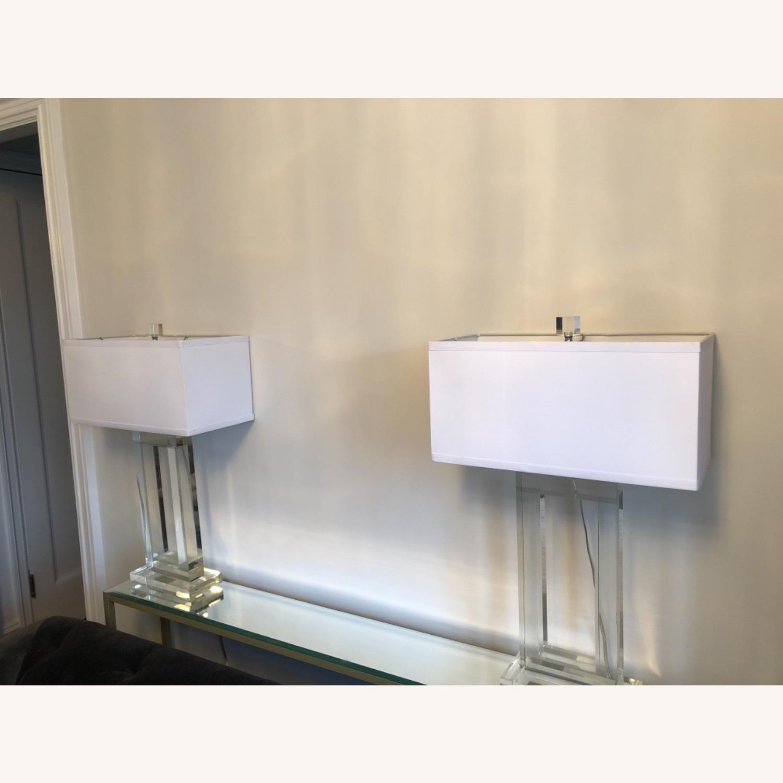 Lamps Plus Pair of Glass Lamps - image-2