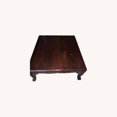 Used Mahogany Wood Coffee Table for sale on AptDeco
