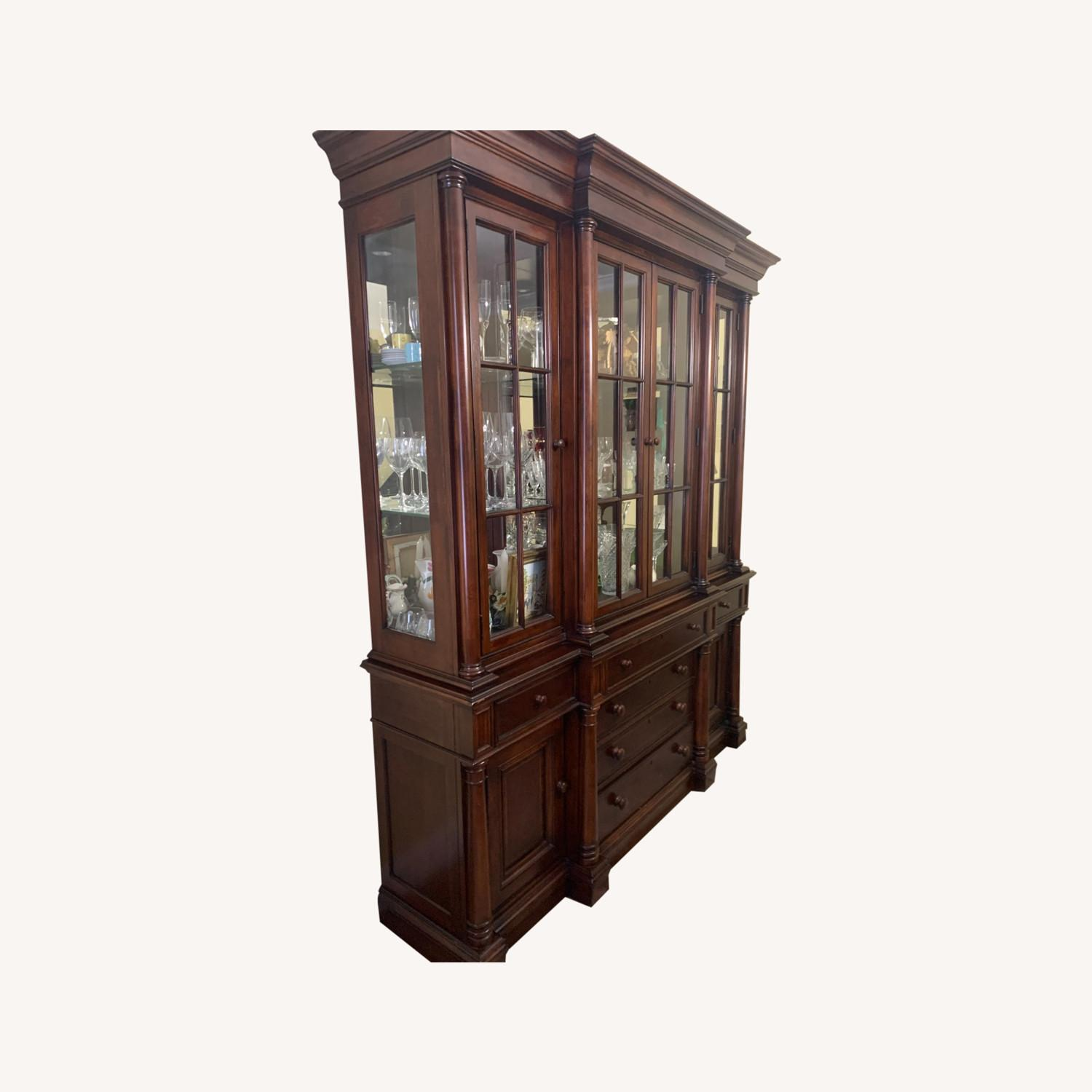 Thomasville China Cabinet Hutch Breakfront Display - image-0