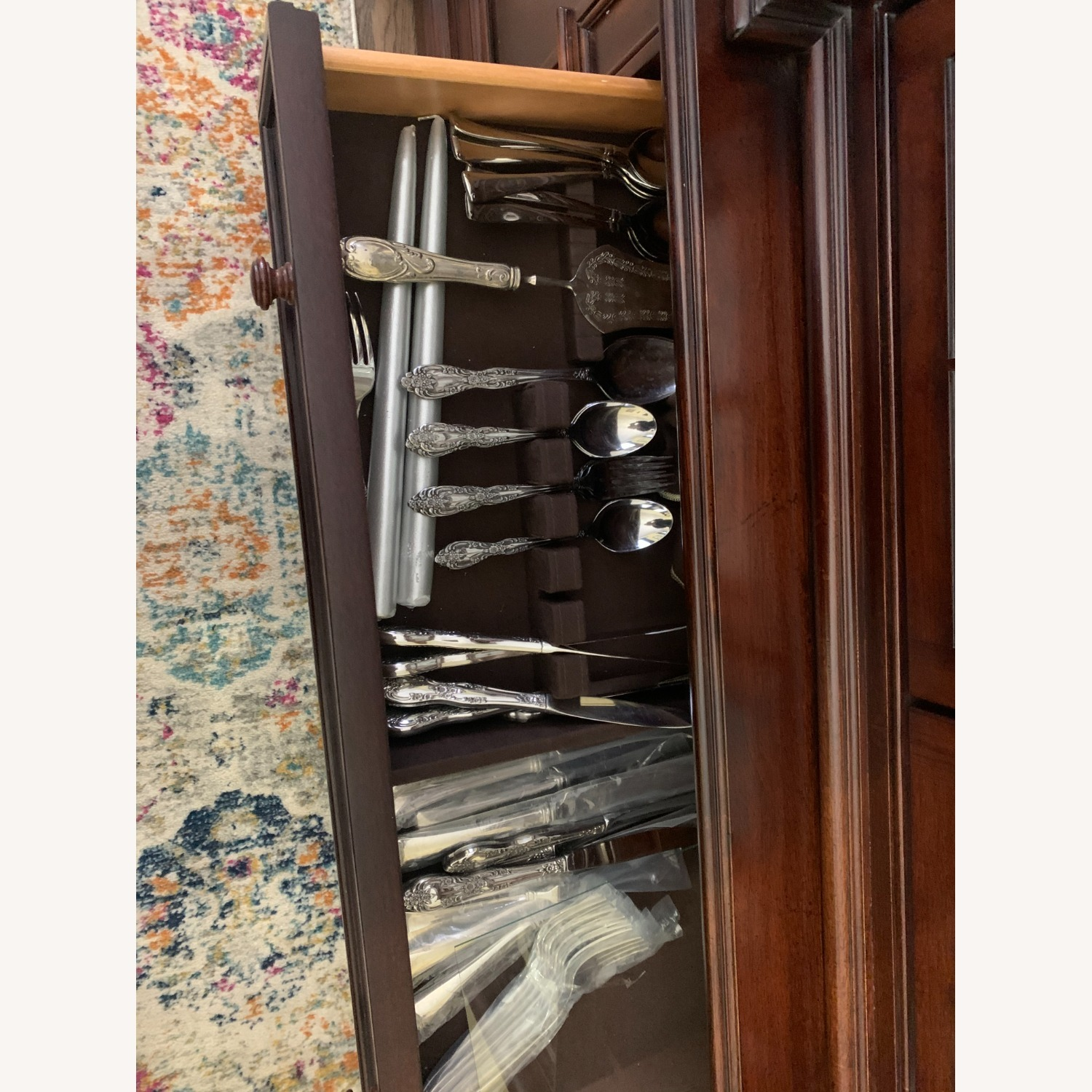 Thomasville China Cabinet Hutch Breakfront Display - image-7