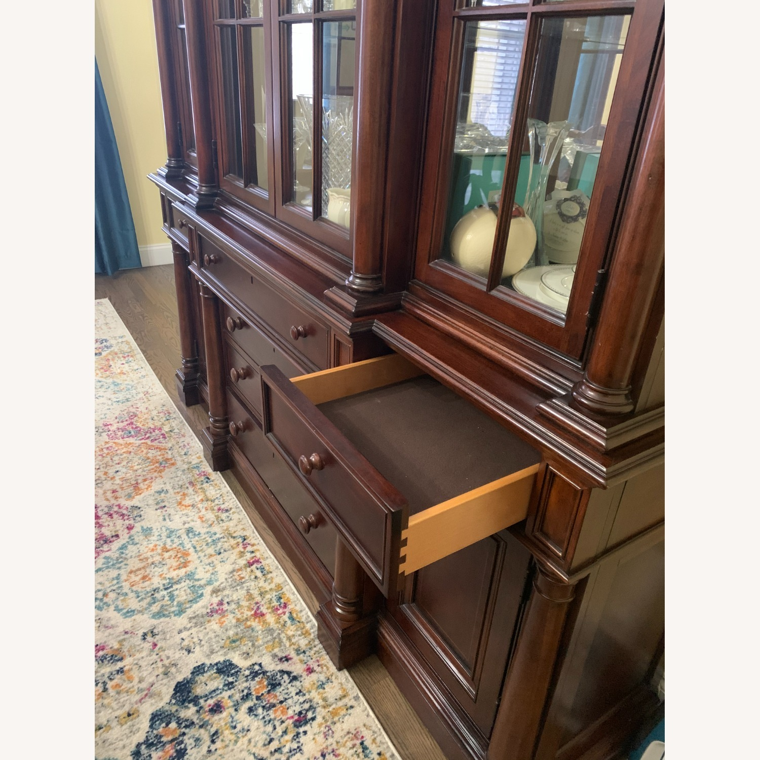 Thomasville China Cabinet Hutch Breakfront Display - image-3