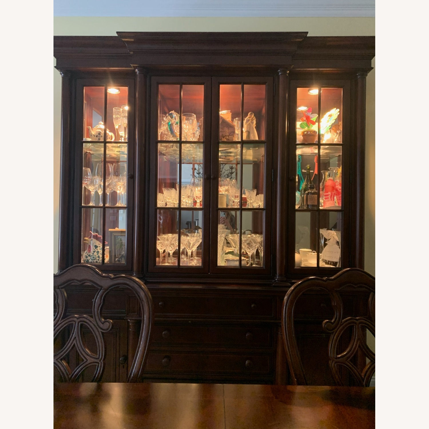Thomasville China Cabinet Hutch Breakfront Display - image-1