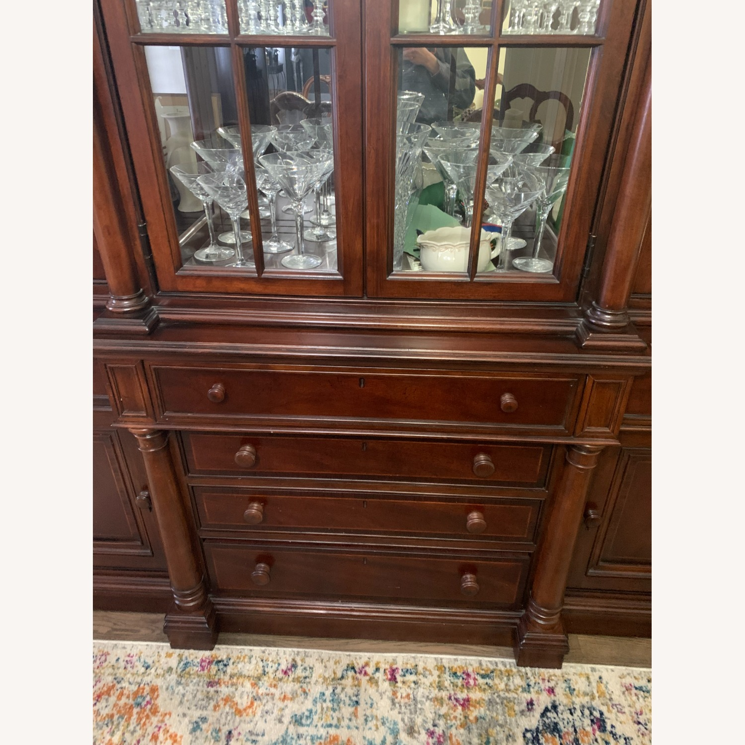 Thomasville China Cabinet Hutch Breakfront Display - image-8