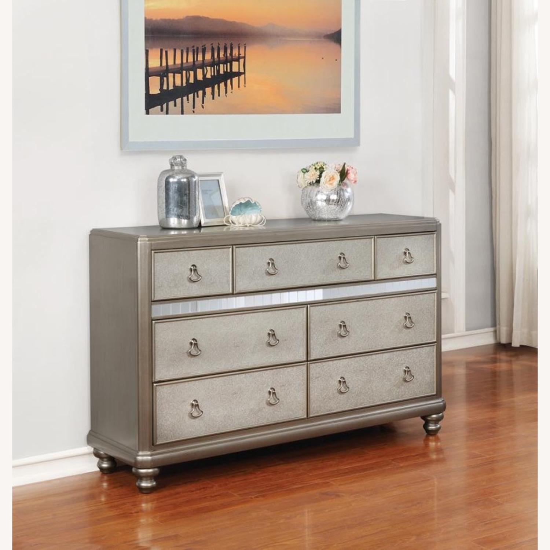 Dresser In Metallic Platinum W/ 7 Drawers - image-5