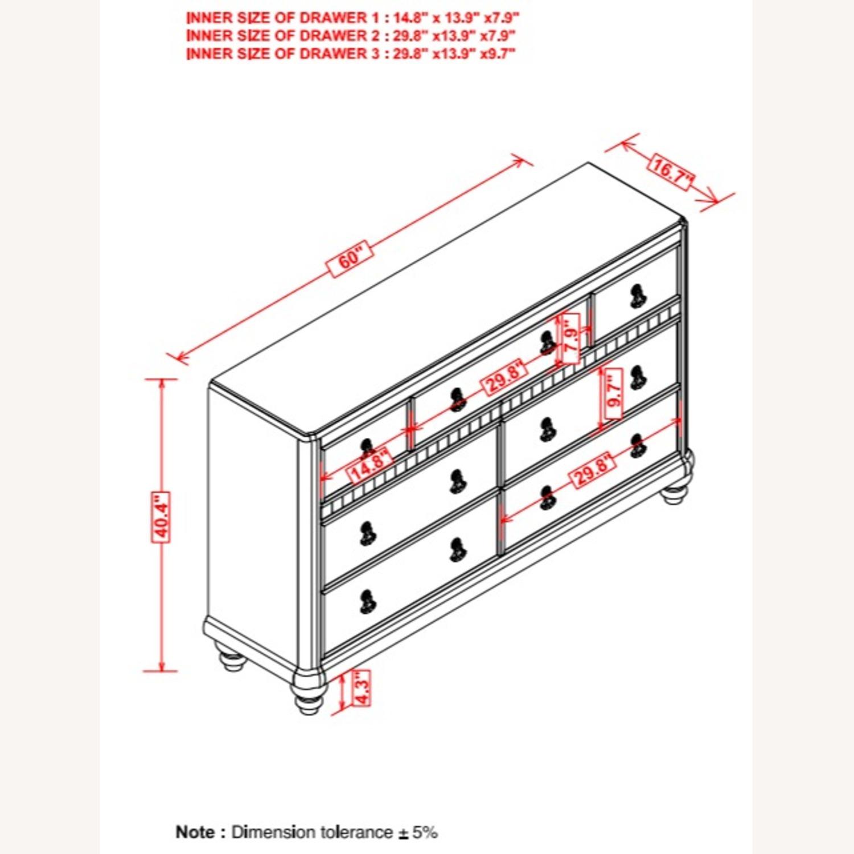 Dresser In Metallic Platinum W/ 7 Drawers - image-6