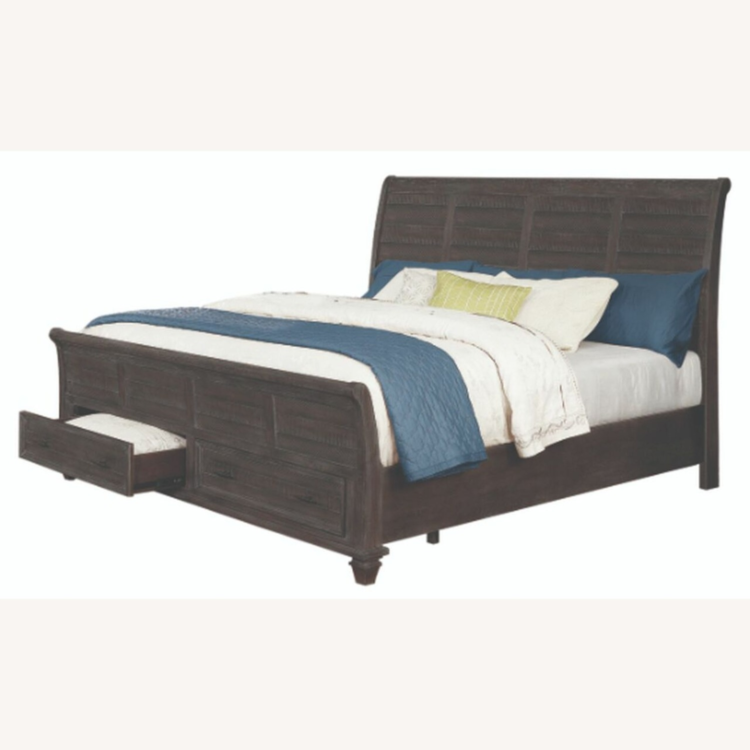 Queen Storage Bed In Weathered Carbon Finish - image-1