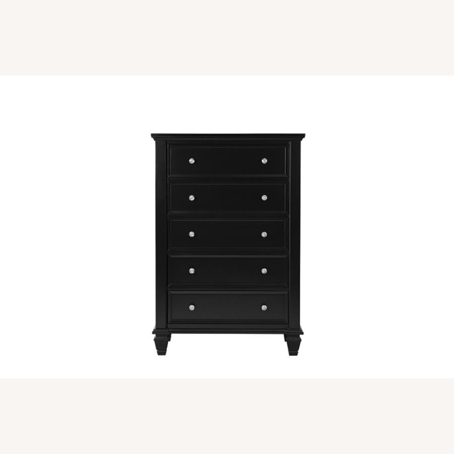 Chest Crafted In Poplar Veneer Black Finish  - image-0
