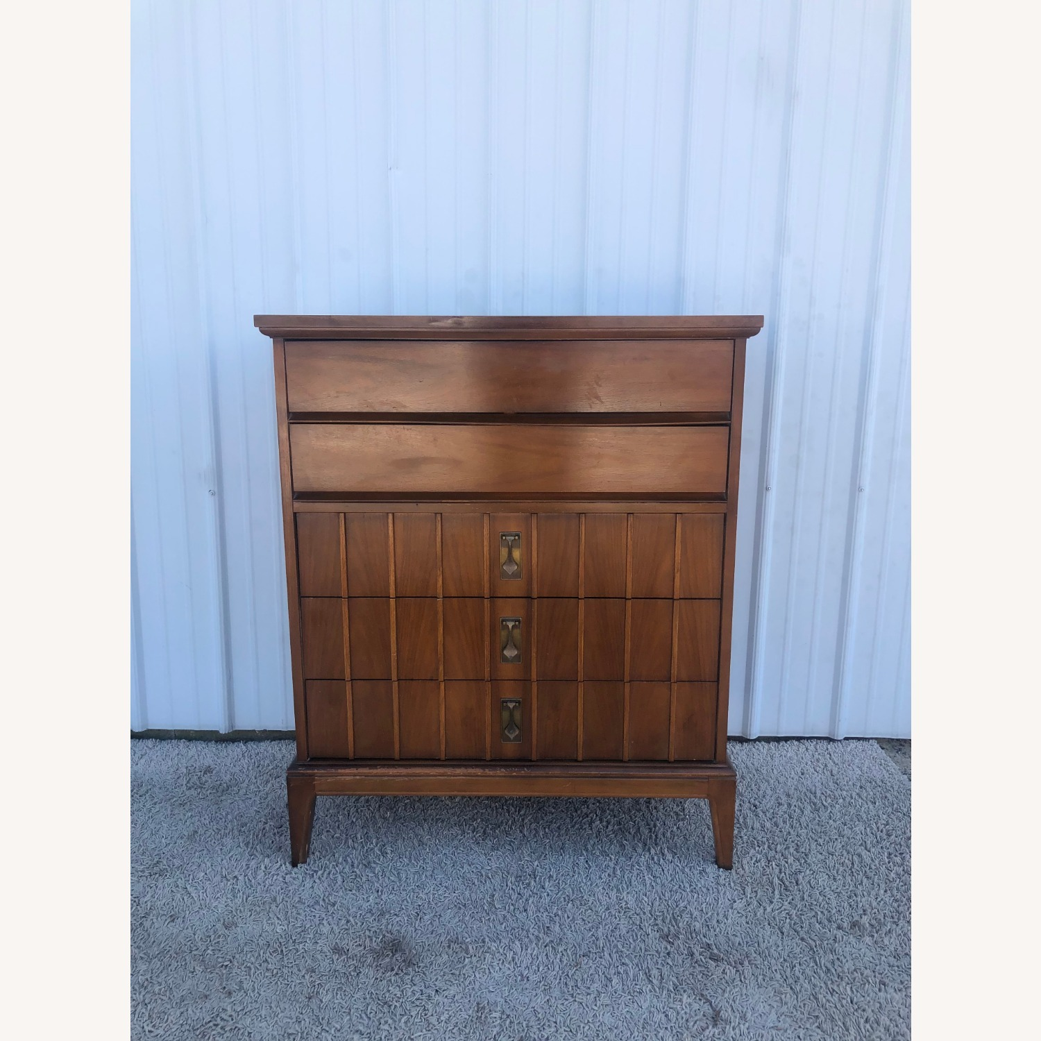 Mid Century Highboy Dresser with 5 Drawers - image-1