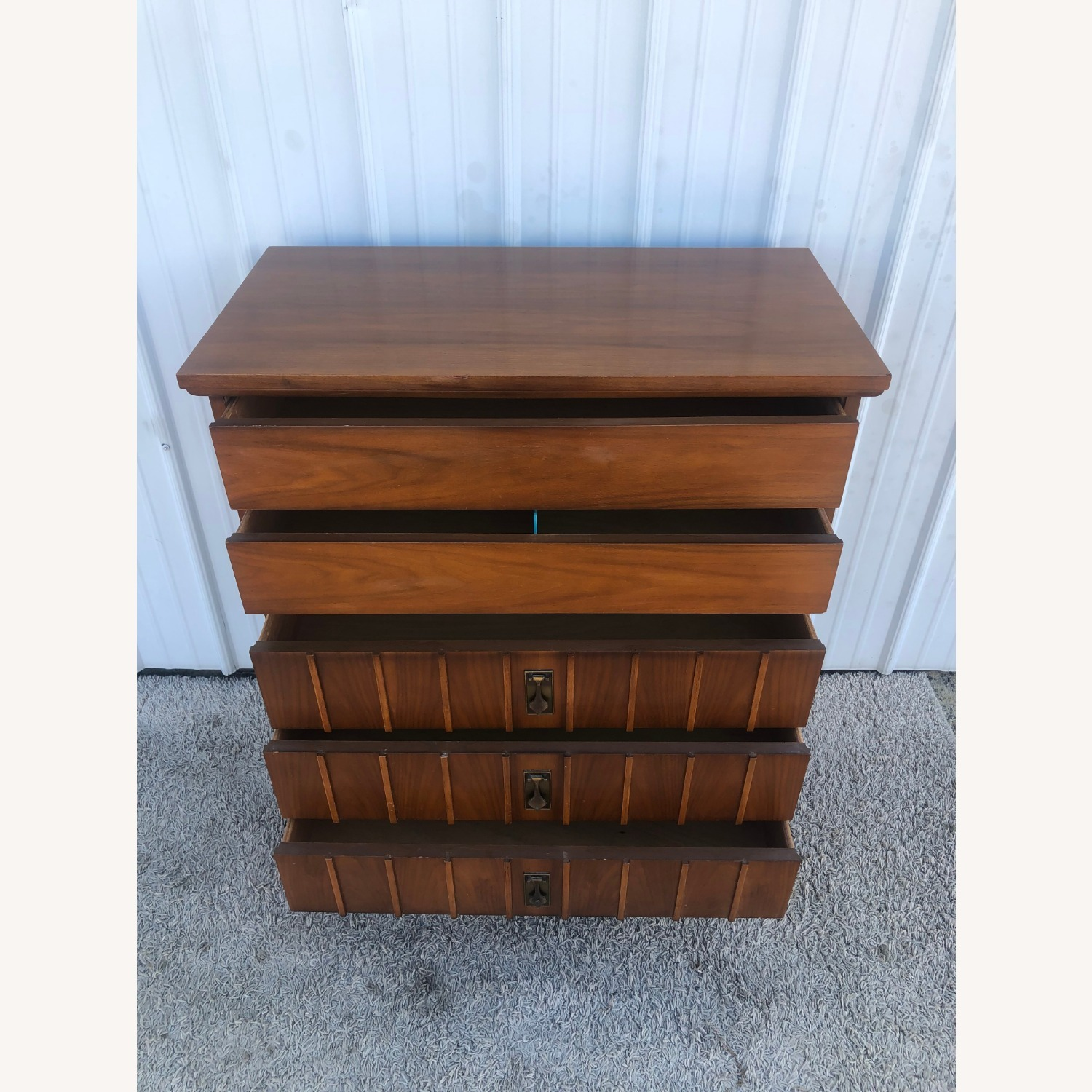 Mid Century Highboy Dresser with 5 Drawers - image-14