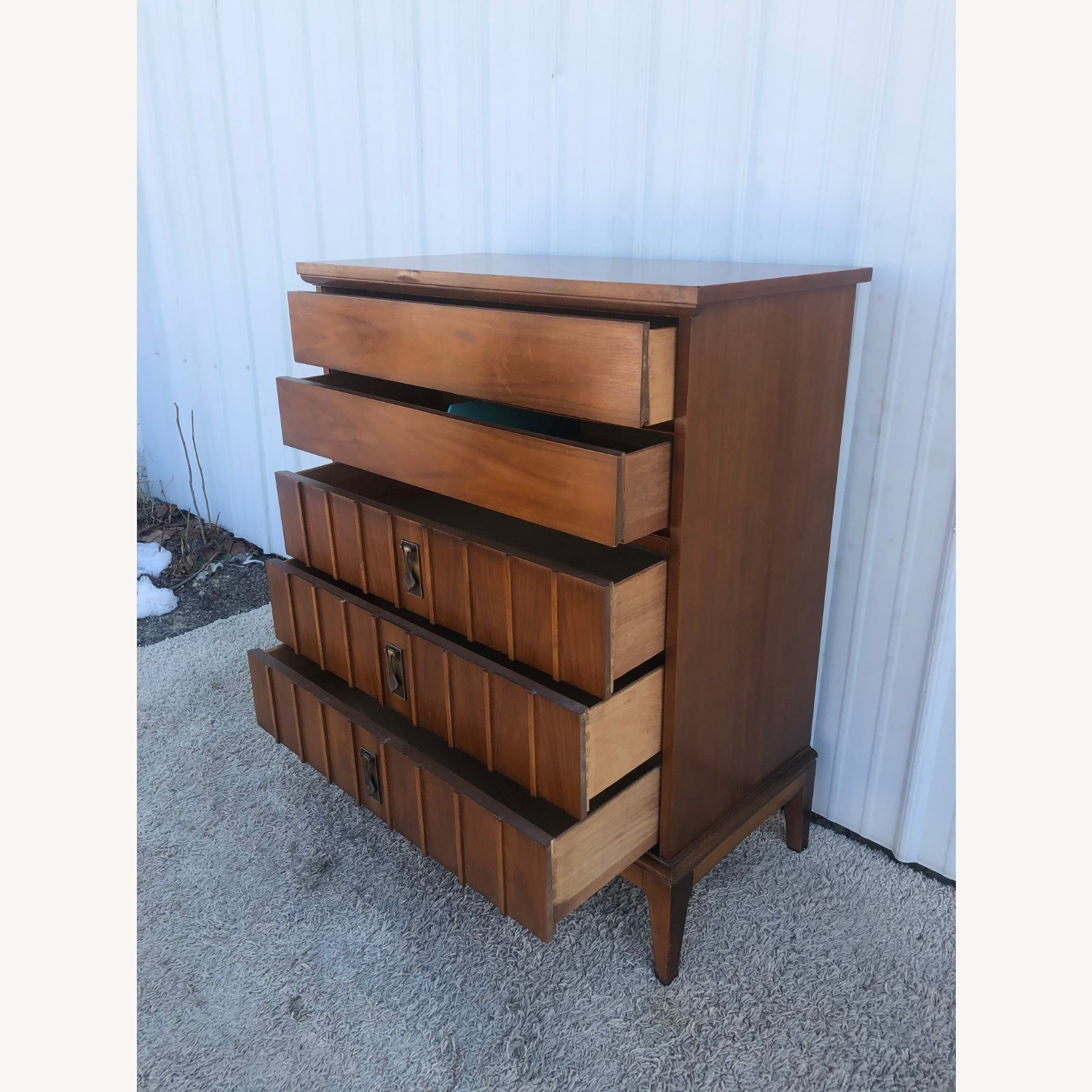 Mid Century Highboy Dresser with 5 Drawers - image-10
