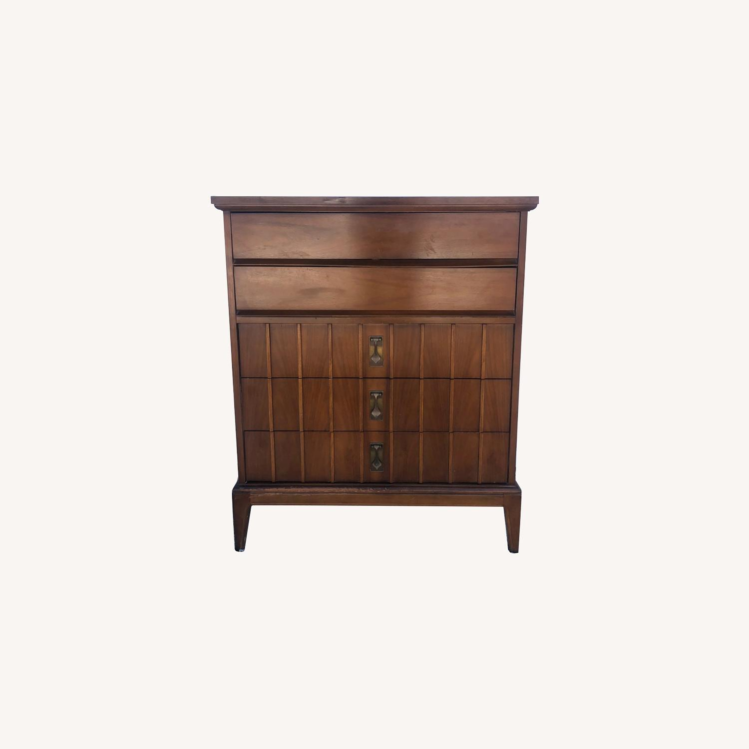 Mid Century Highboy Dresser with 5 Drawers - image-0