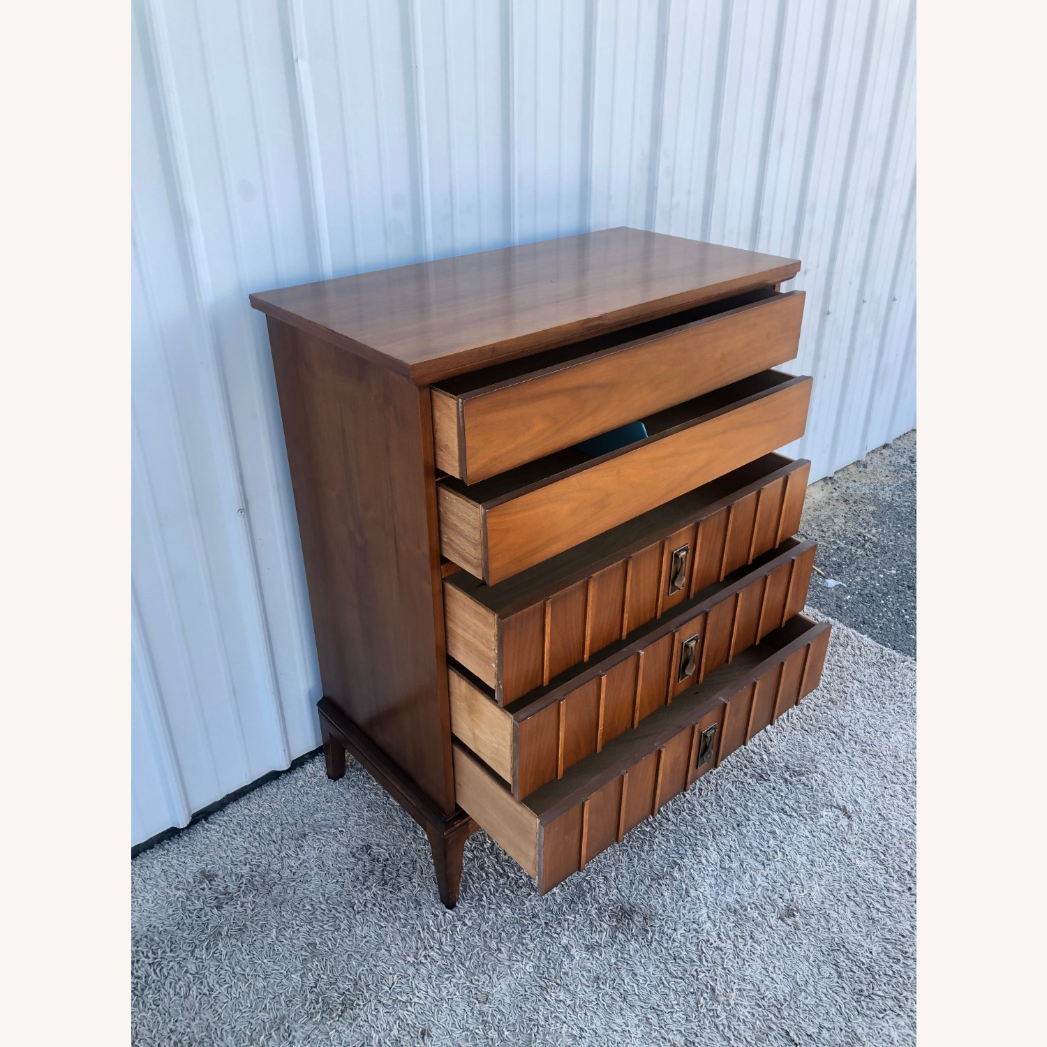 Mid Century Highboy Dresser with 5 Drawers - image-12