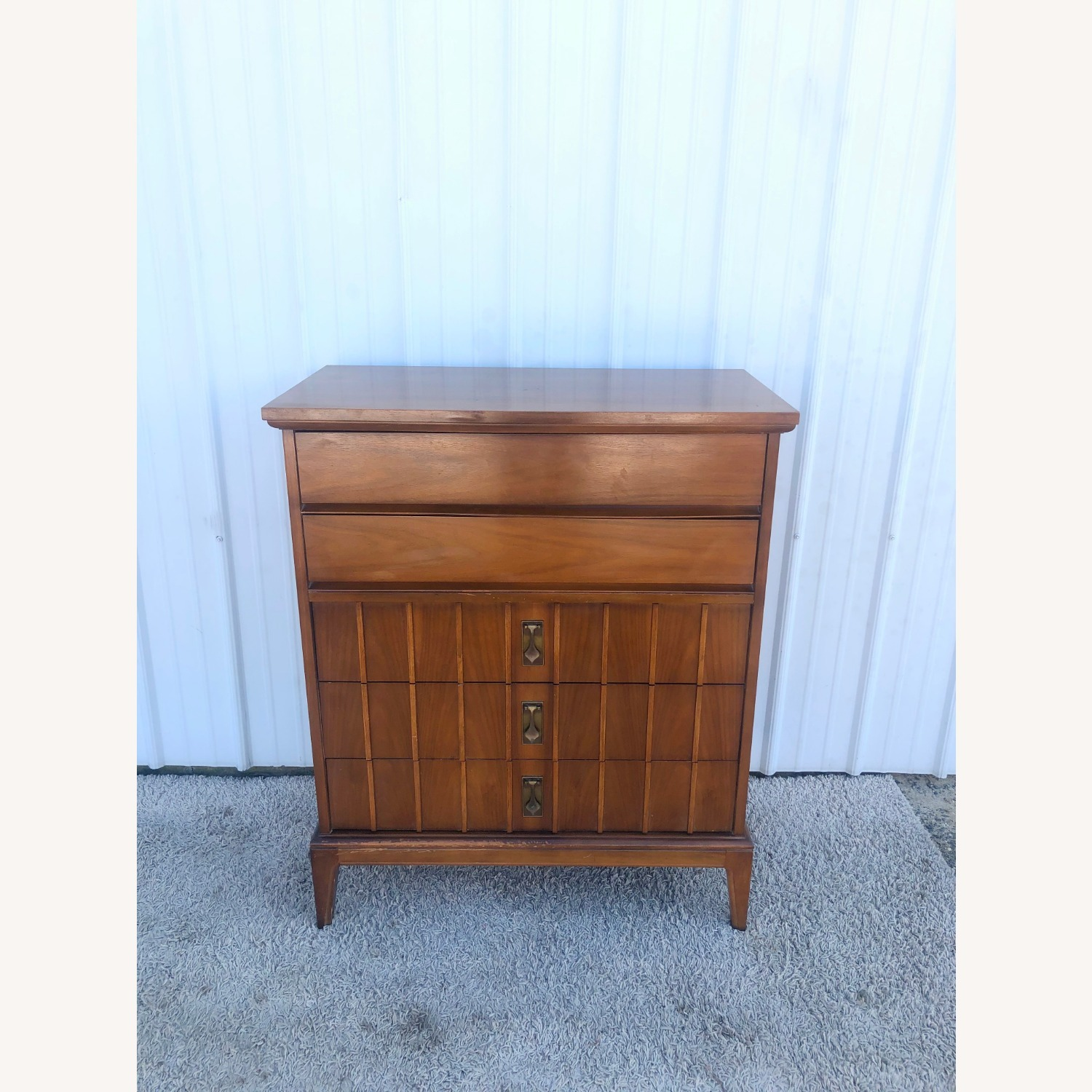 Mid Century Highboy Dresser with 5 Drawers - image-3