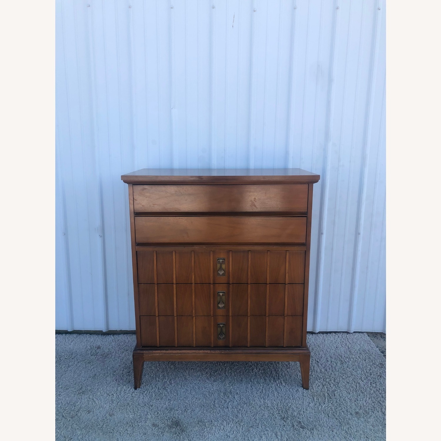 Mid Century Highboy Dresser with 5 Drawers - image-18