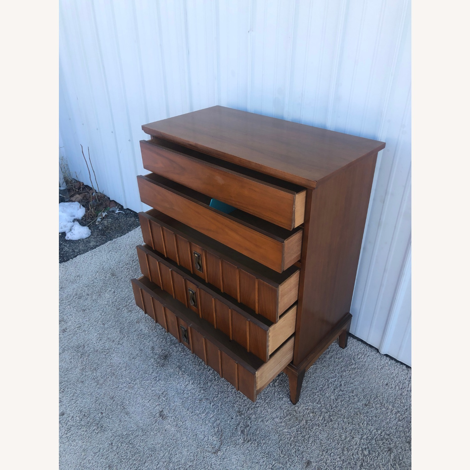 Mid Century Highboy Dresser with 5 Drawers - image-11