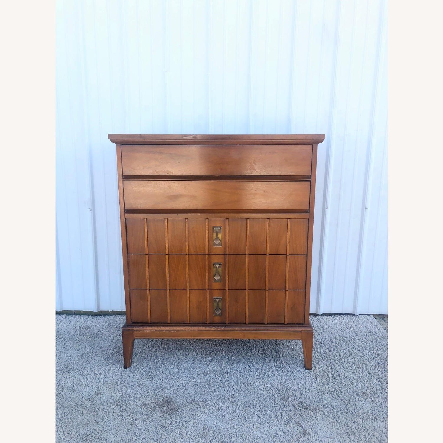 Mid Century Highboy Dresser with 5 Drawers - image-2