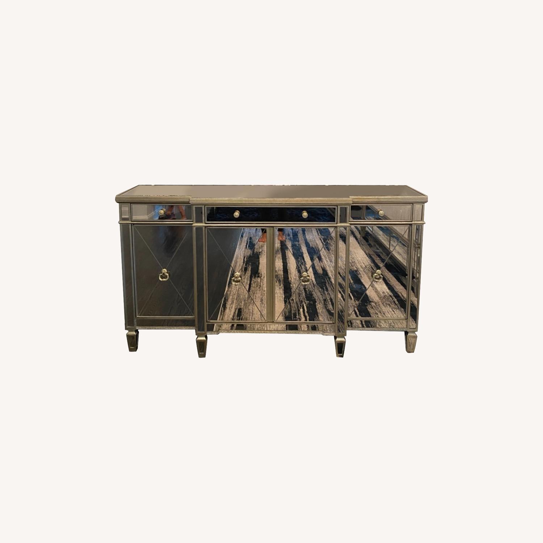 Bassett Mirrored Buffet- Console- Dresser - image-0