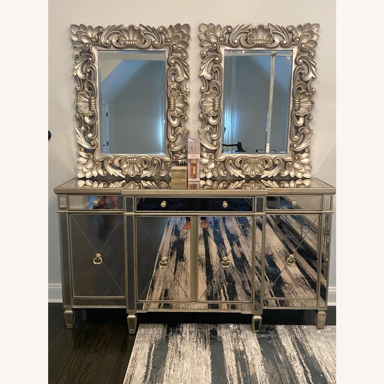 Bassett Mirrored Buffet- Console- Dresser - image-1